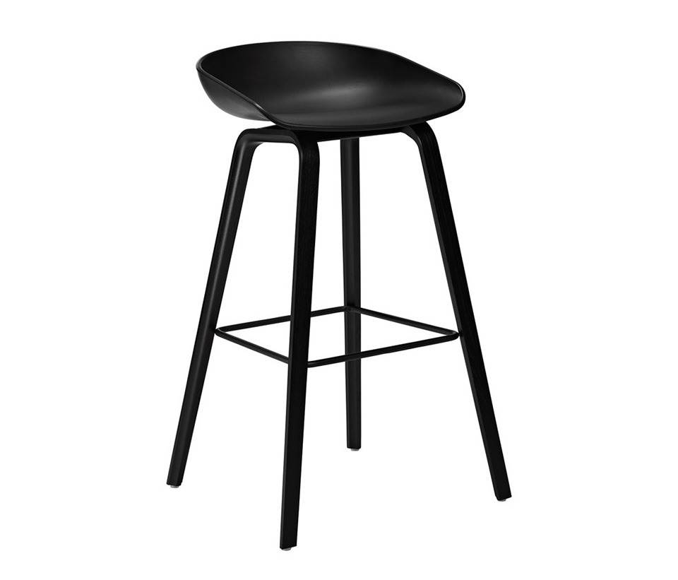 Barstol About a Stool AAS32, svart