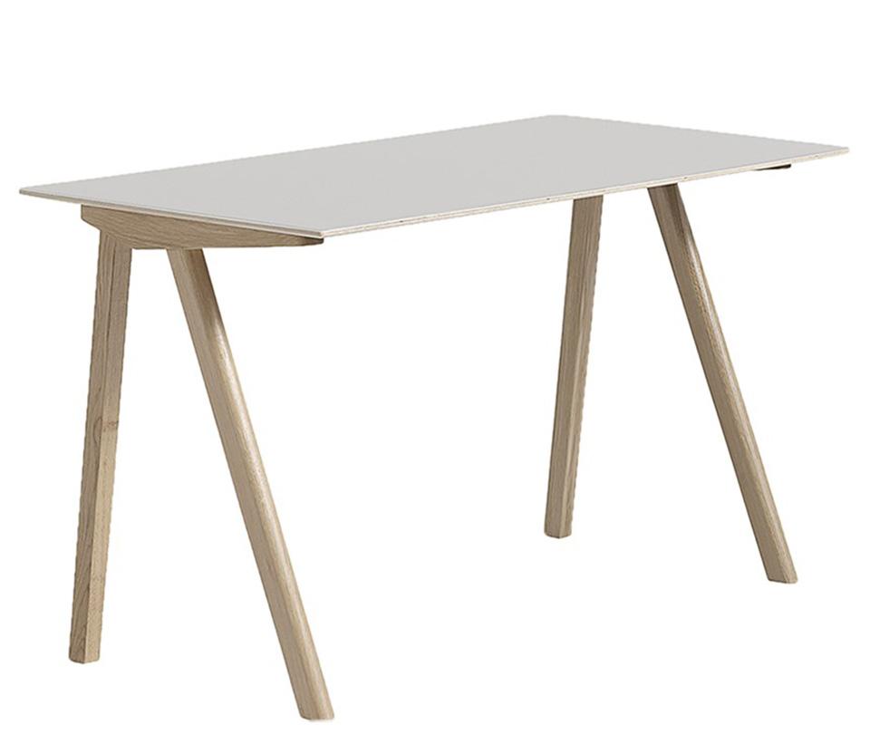 CPH90 Desk, vit laminat, matt ek
