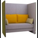 Variationsmöjligheterna med olika tyger på skärmar, sitsar och kuddar gör det möjligt att anpassa färgsättningen till alla miljöer.