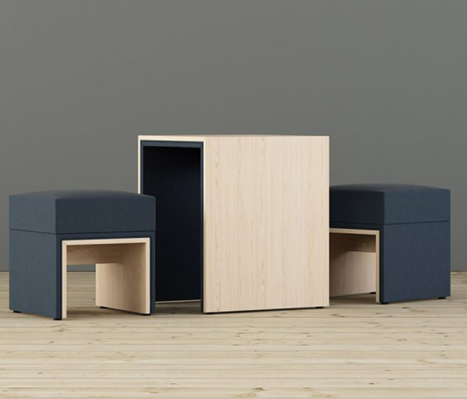 mbusSit Pouf, CoffeePouf and CoffeeTable