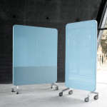 Ljuddämpande mobil golvskrivtavla Mood Fabric Mobile