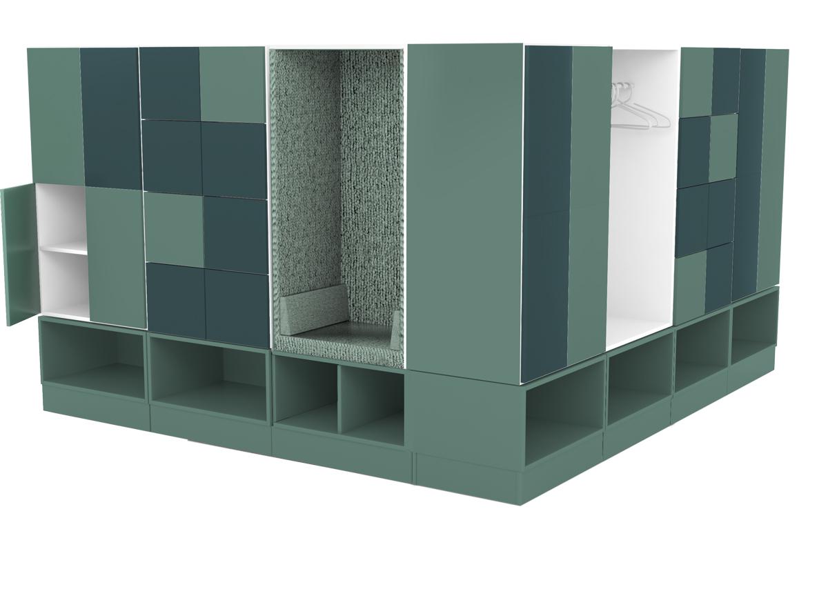 Personling förvaring med öppen garderob| Formis on