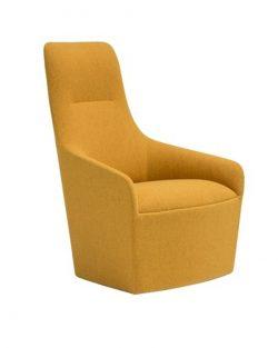 Lounge fåtölj Alya hög rygg 110 cm