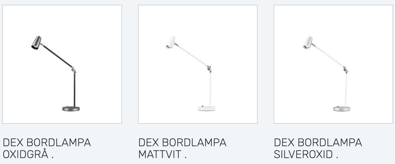 Bordslampa Dex