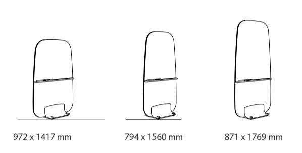 Golvskärm Contour Floor Glass varianter