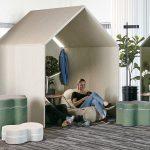 Ljudabsorberande The Hut interior