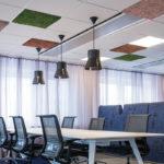 Ljudabsorbent i mossa Ceiling interior mix