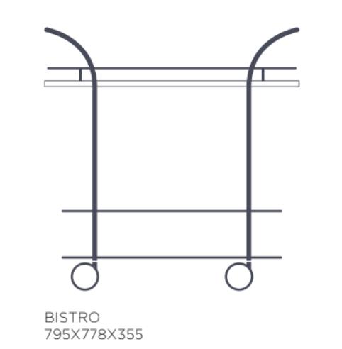 Serveringsvagn Bistro