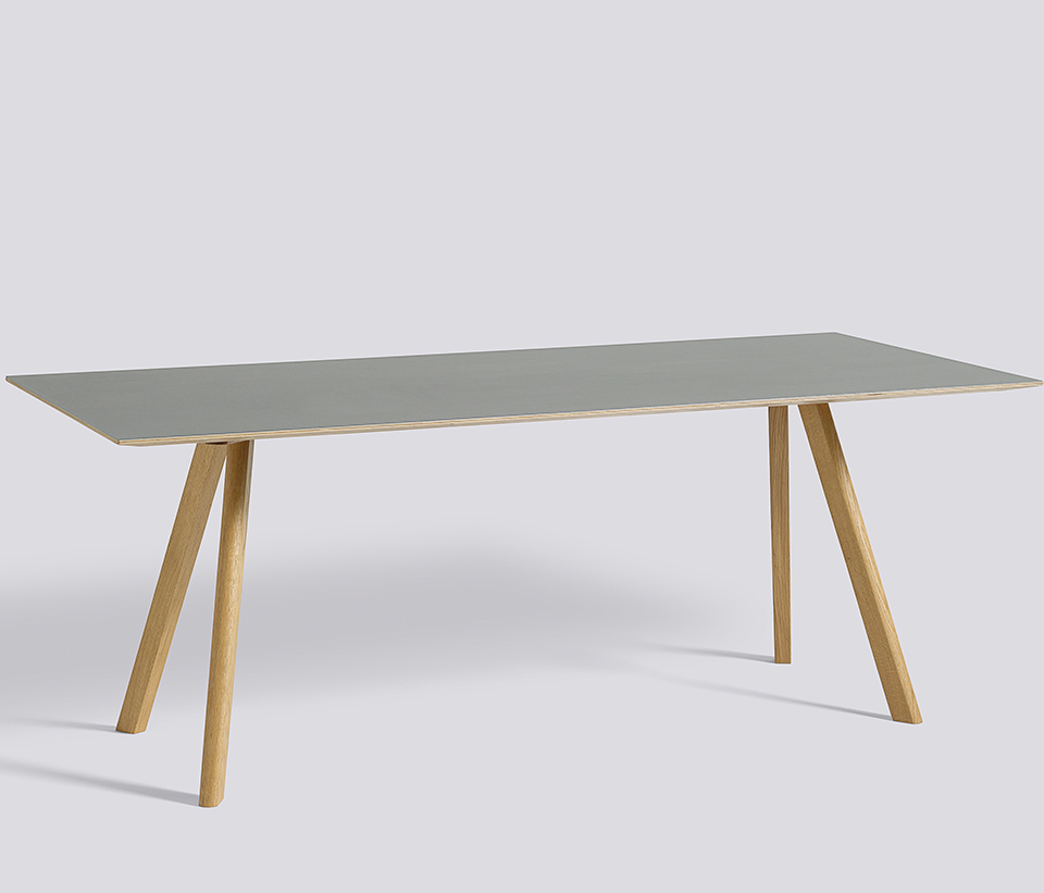 Bord CPH30 table, ek, Lino gra