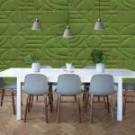 Väggpanel Jazz grön vägg